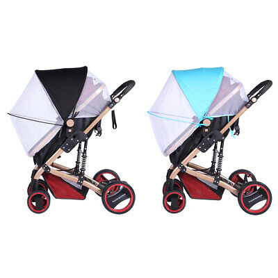 2-in-1 Baby Stroller Mosquito Net Sun Shade Canopy Fit Pram Bassinet Seat Cover