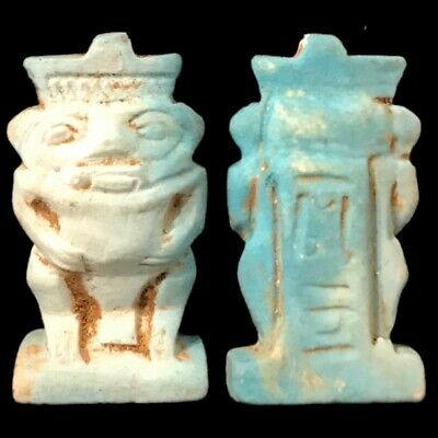 Beautiful Ancient Egyptian Bes Amulet 300 Bc (29)