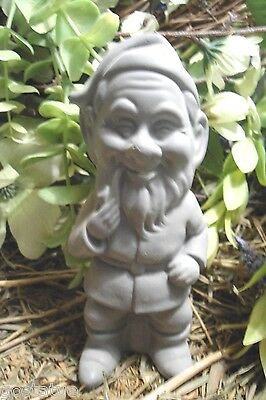Latex sitting Gnome elf smoking pipe Mold mould