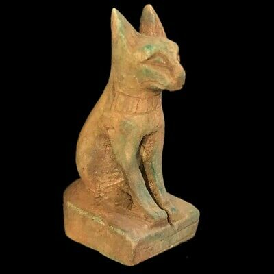Egyptian Cat Statue, Late Period 664 - 332 Bc (8)