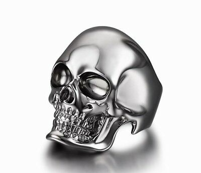 The Master - BLACK RUTANIUM Plated Sterling Silver Skull Ring, Jewelry #S450