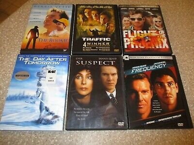 Lot of 6 Dennis Quaid DVDs Frequency, Suspect, The Day After Tomorrow & more