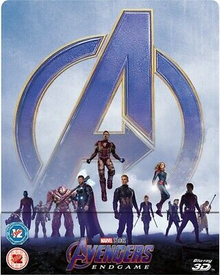 Avengers: Endgame Exclusive 3D Steelbook (Includes 2D Blu Ray)  PRE ORDER 2/9/19