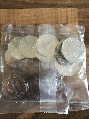 Sherlock Holmes 50p Coins.  Uncirculated (2019). 20 Coins. Bank Sealed.