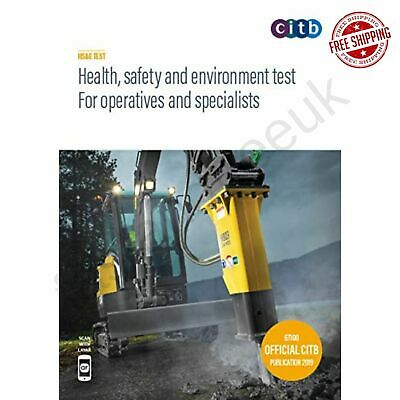 CSCS Card Test Book Health Safety For Operatives Specialists 2019 Environment