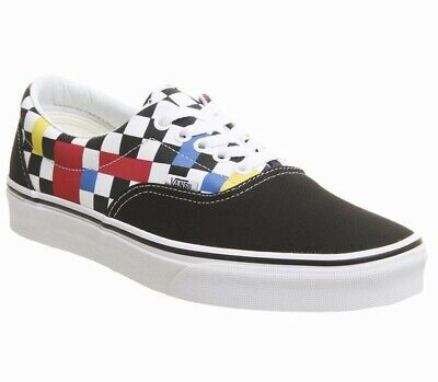 VANS OFF THE Wall Black White Checkerboard Print Lace Up Pumps Trainers UK 5.5