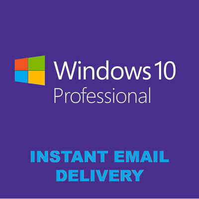 Windows 10 Pro Key Activation 32/64 Instant Multi language Original License