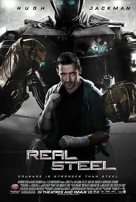 Real Steel - original DS movie poster - 27x40 D/S - Jackman - 2011