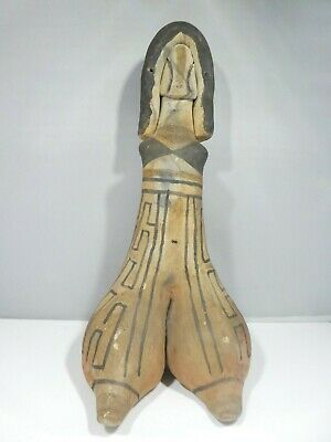 Authentic Ancient Pottery Figure From  Amazon Of Brazil Gallery Label Affixed