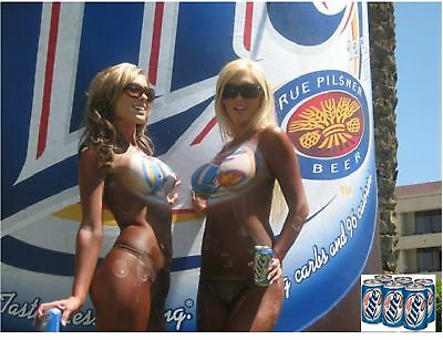 Miller Lite Beer Body Paint Girls  Refrigerator / Tool Box  Magnet Man Cave