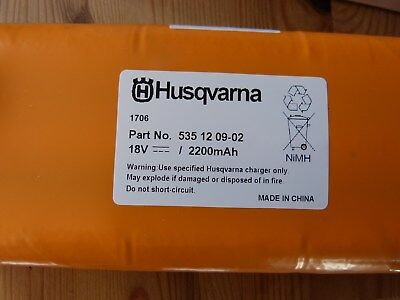 Husqvarna Automower battery new Genuine Part Number 535 12 09 -02 To fit 220ac,