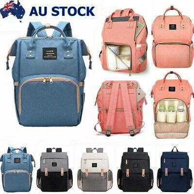 GENUINE LAND Nappy Bag Multifunctional Baby Diaper Changing Backpack Mummy AU
