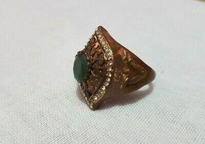 extremely ancient old ring bronze legionary viking ring bronze rare type