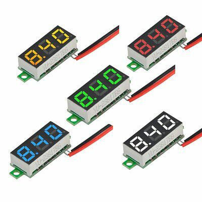 "5pcs Multicolor 0.28"" Mini 2.5-30V Digital DC Voltmeter Voltage Tester Meter"