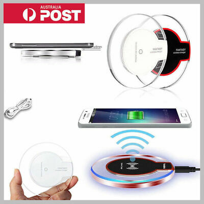 Qi Wireless Charger Charging Pad For iPhone XS MAX XR 8 Plus Samsung S9 S10 Plus