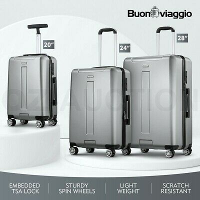 Buonviaggio 3PCS Luggage Suitcase Trolley Set Travel Storage PC Case Organizer