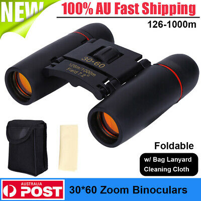 30 x 60 Zoom Binoculars Day Night Vision HD Outdoor Hunt Camping Telescope 1000m