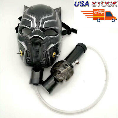 New Black Panther Silicone Gas Mask Bong Smoking Water Pipes With Flexible Pipe