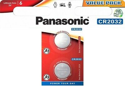2 x Panasonic CR2032 3V Lithium Coin Cell Battery DL/BR 2032