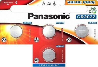 4 x Panasonic CR2032 3V Lithium Coin Cell Battery DL/BR 2032