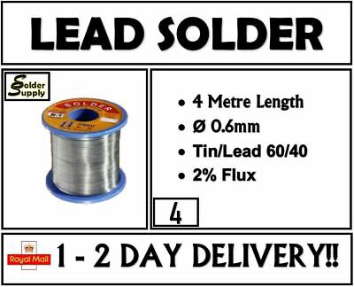 Solder Wire Tin Lead 1mm Flux Cored Pb Splatter Free Premium Quality 2 Metres