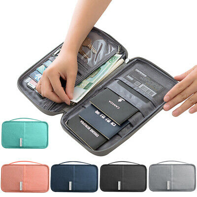 Waterproof Passport Holder Travel Document Wallet Family Case Organizer Portable