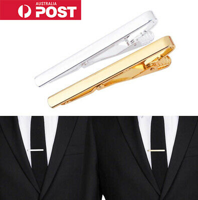 Gold, Silver & Black Tie Pin/Bar/Clip/Clasp Mens Womens Jewellery