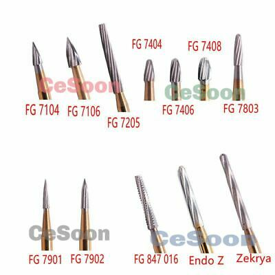 Dental Burs Carbide Tungsten Trimming Finishing Burr FG 7104 7803 Endo Z Zekrya