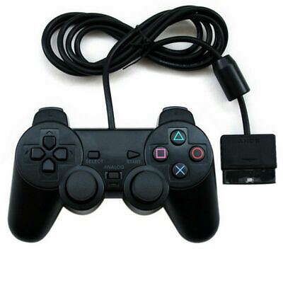 Black Dual Twin Shock Game Controller Joypad Pad for Sony PS2 Playstation 2 USA