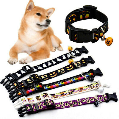 1PC Cute Dog Cat Collar Pet Puppy Kitten Adjustable Harness Neck Strap With Bell