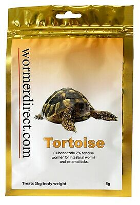 Tortoise Wormer 5g, Flubendazole 2%, Free and Fast Delivery