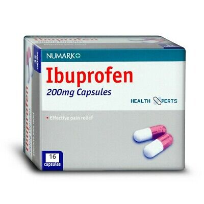 32 Tablets Ibuprofen 200mg - Pain Relief - Migraine - Rheumatic & Muscular Pain