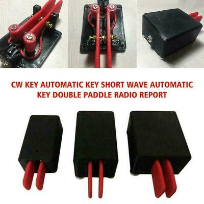 Cw Keys Automatic Key Ahort Wave Automatic Keys Double Ra Paddle L5G7 NEW R F6A2