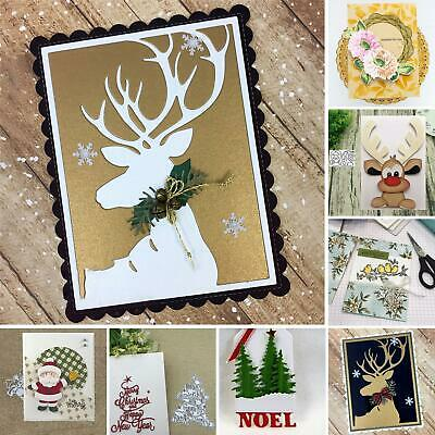 Christmas Metal Cutting Dies Decorative Scrapbooking Paper Card Craft Embossing