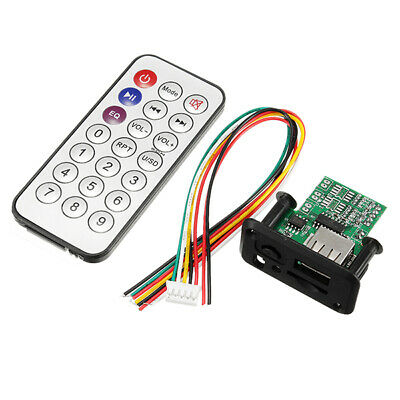 DC 5V 12V 3W+3W Dual Channel MP3 Decoder Board Decoding Module Support MP3 WAV U