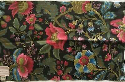 Charming Late 19th, Early 20th C. French Printed Cotton Tapestry Fabric   (2825)