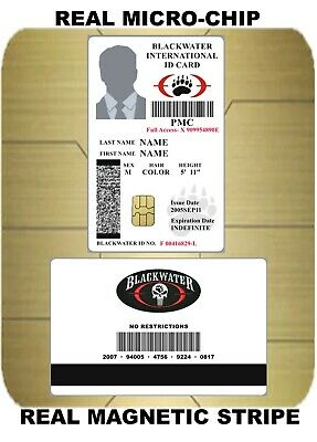 USA ID COLLECTOR CARDS << BLACKWATER Security >>