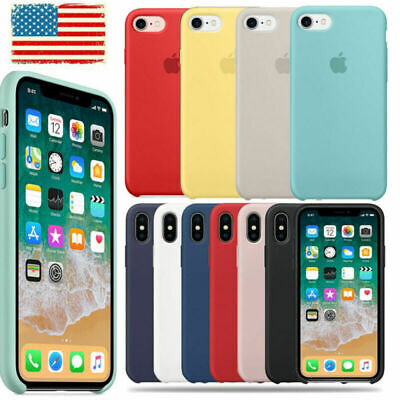 Genuine Original Silicone Case Cover For Apple iPhone X XR XS Max 7 8 6 6S/Plus