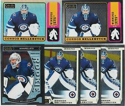 Connor Hellebuyck 6 Card Lot Opc Platinum Marquee Rookie Rc M36 Retro Rainbow Sp