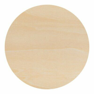 12 inch Round Circle Cutout Shapes, DIY Unfinished Wood Craft Shape - Pack of 3