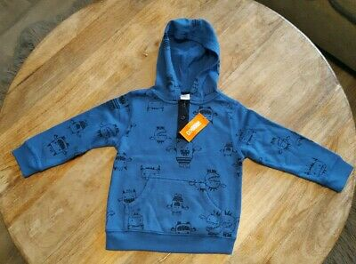 Gymboree Boys 3T Blue Monster All Star Hoodie NWT