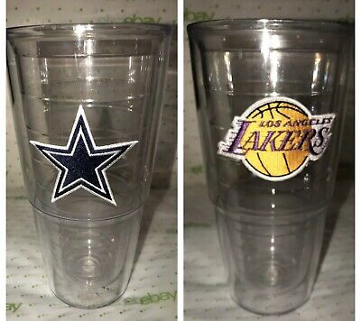 Dallas Cowboys Authentic Tervis Insulated Clear Tumbler Extra Large 24 Oz
