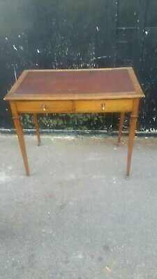 Antique Victorian Office Library Writing Desk Table