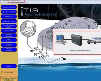 LATEST VERSION✔️Toyota TIS Techstream V13.00.022 Diagnostic Software✔️