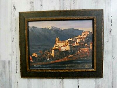 Robert Neaves - Village in Lazio  Giclee Canvas from a oil painting 1 of 25