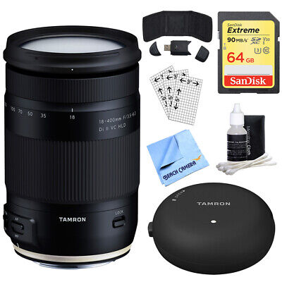 Tamron 18-400mm f/3.5-6.3 Di II VC HLD All-In-One Zoom Lens + 64GB Accessory Kit