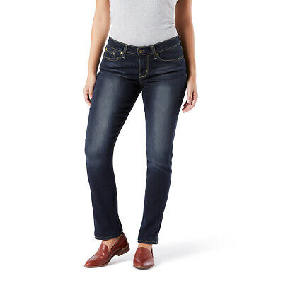 Signature By Levi Strauss & Co. Gold Label Womens Mid-Rise Straight Cosmos Jeans