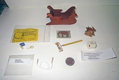 Dollhouse Lot AMAZING ARTIST - Museum Quality MINIATURE TOY FURNITURE Collection