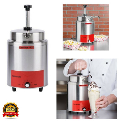 3.5 Quart Condiment Food Pump Nacho Cheese Warmer countertop Toppings Stand