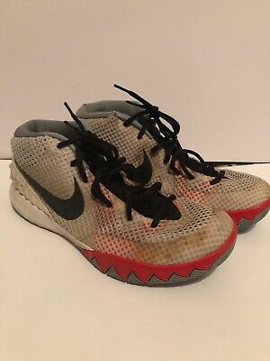 the latest a9e2a 9e3af SIZE 9 NIKE Kyrie 1 Home White Black Dove Grey Infrared ...